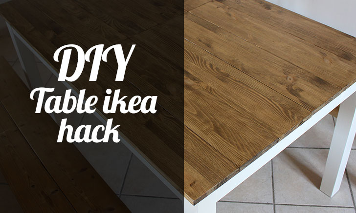 Diy table ikea hack tfab blog for Table exterieur diy